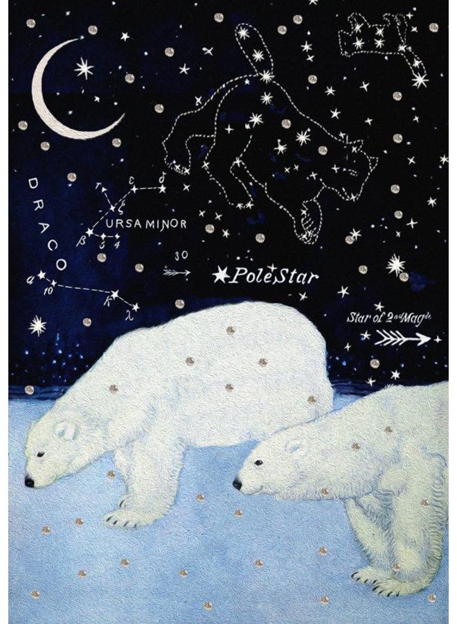 Star Bears Glitter Card