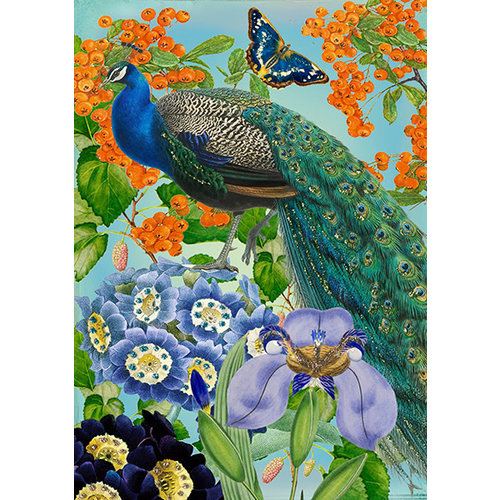 Madame Treacle Peacock in the Blooms Card