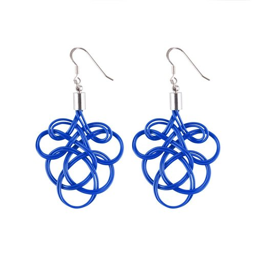 Paguro Flaminco Blue Upcycled Electric Wire  Earrings 59