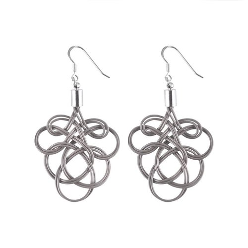 Paguro Flaminco Grey Upcycled Electric Wire  Earrings 62