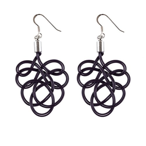 Paguro Flaminco Purple Upcycled Electric Wire  Earrings 61