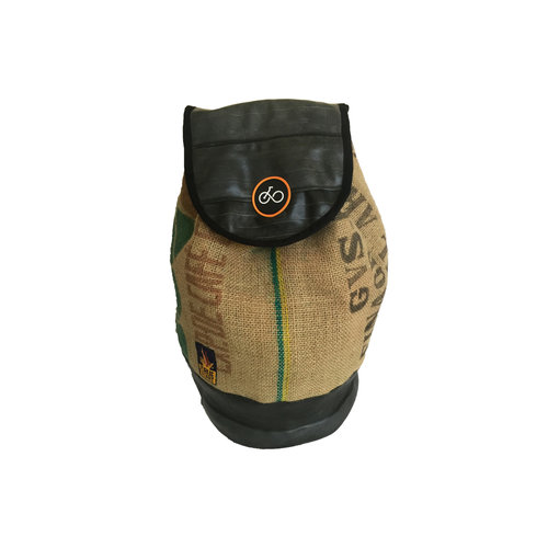 Cylcle Of Good Recycled Coffe Sack & Inner Tube Duffel Bag