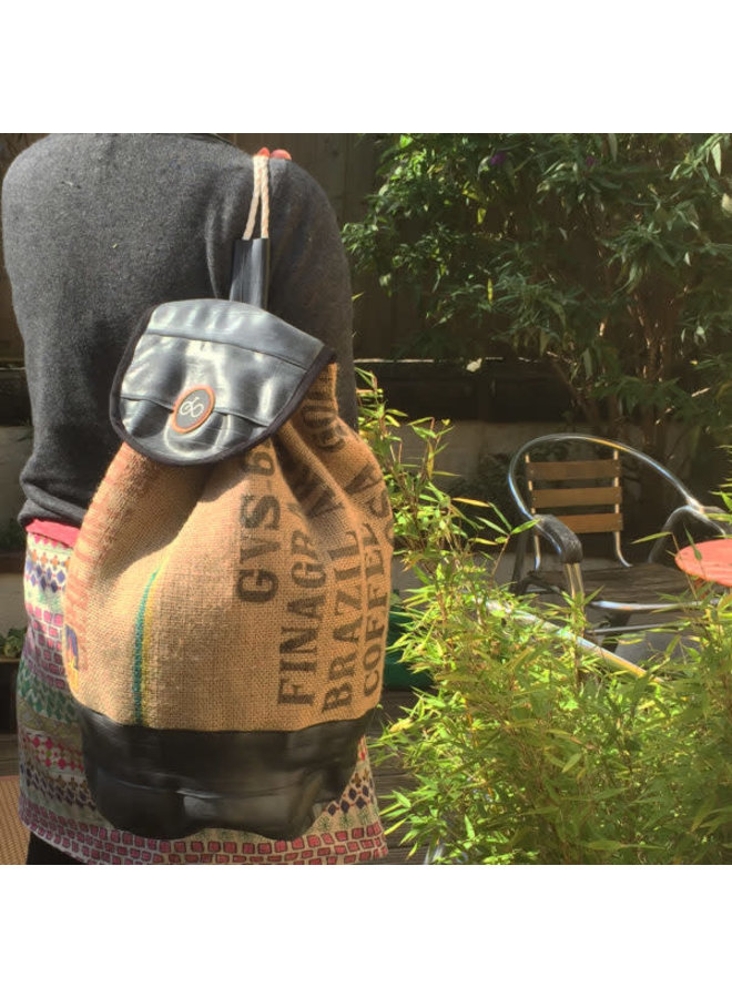 Aufbereiteter Kaffee-Sack & Schlauch-Seesack