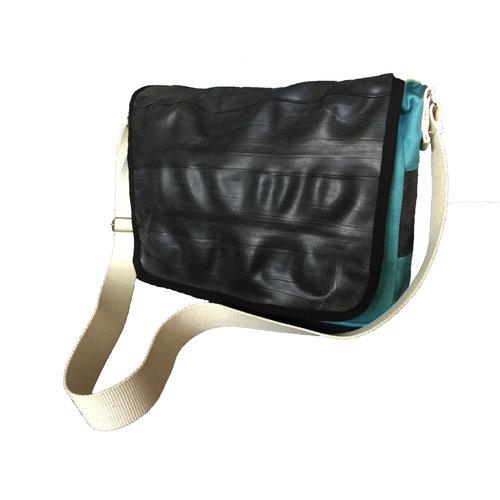 Cylcle Of Good Tubo interior reciclado y bolsa de mensajero de lona azul