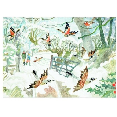 Artists Cards Christmas in the Country by Michael Coulter  x5 Xmas Charity cards 180x140mm