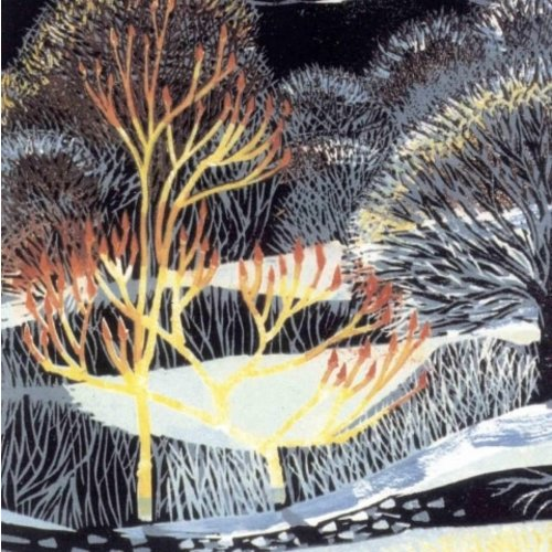 Artists Cards Frosty Night by Annie Soudain x5  Xmas Charity cards 140 x 140mm