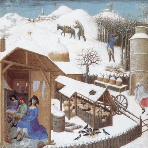 Artists Cards February Limbourg Brothers x5  Xmas Charity cards 140 x 140mm