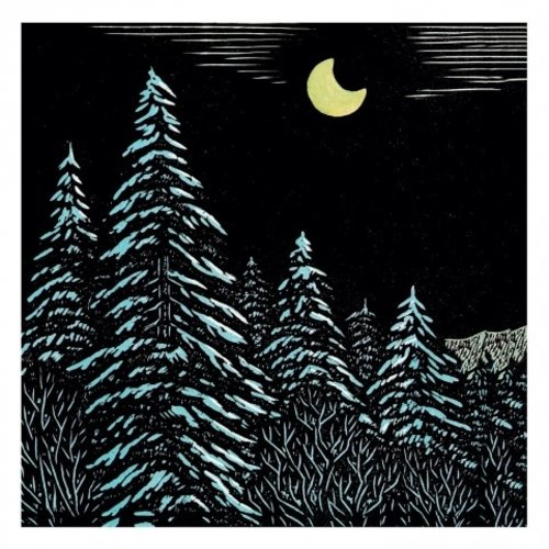 Artists Cards Midnight in the Mountains by K. Tejima  x5  Xmas Charity cards 140 x 140mm