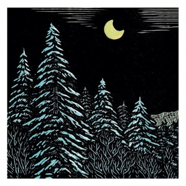 Midnight in the Mountains by K. Tejima  x5  Xmas Charity cards 140 x 140mm