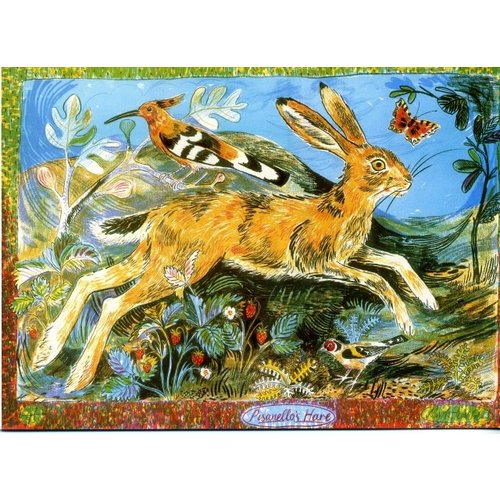 Artists Cards Pisanellos Hare by Mark Hearld 180x 140mm card