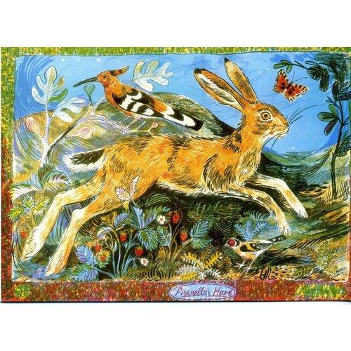 Artists Cards Pisanellos Hare door Mark Hearld 180x 140 mm kaart