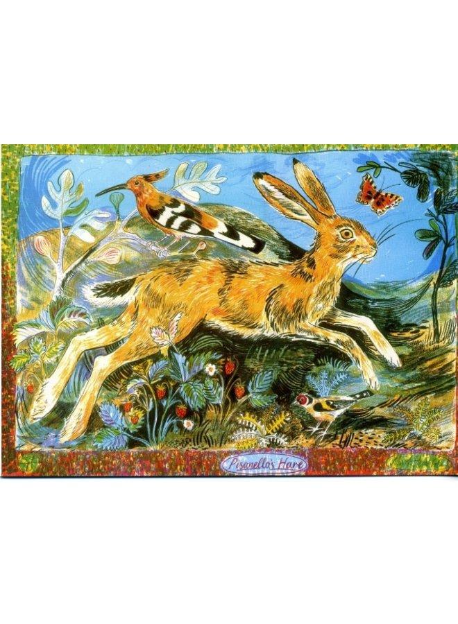 Pisanellos Hare von Mark Hearld 180x 140mm Karte