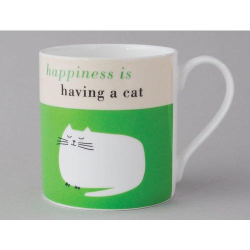 Repeat Repeat Happiness  Large Mug Catnop Green 105
