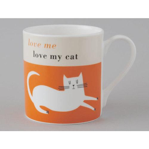 Repeat Repeat Happiness  Large Mug Reclining Cat Orange 109