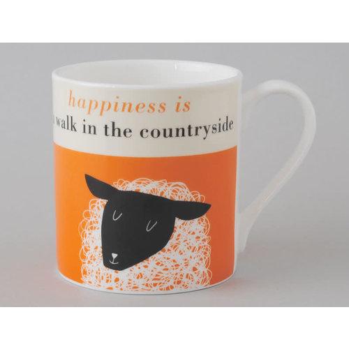 Repeat Repeat Happiness  Large Mug Sheep Orange 110