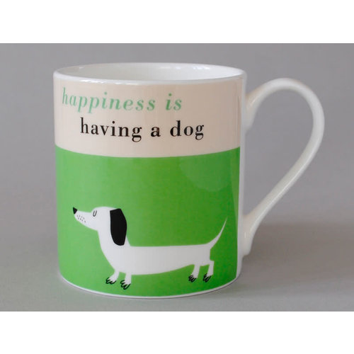 Repeat Repeat Happiness  Large Mug Sausage Dog Green 117