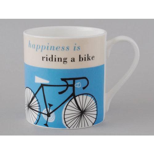 Repeat Repeat Happiness  Large Mug Bike Turquoise 115