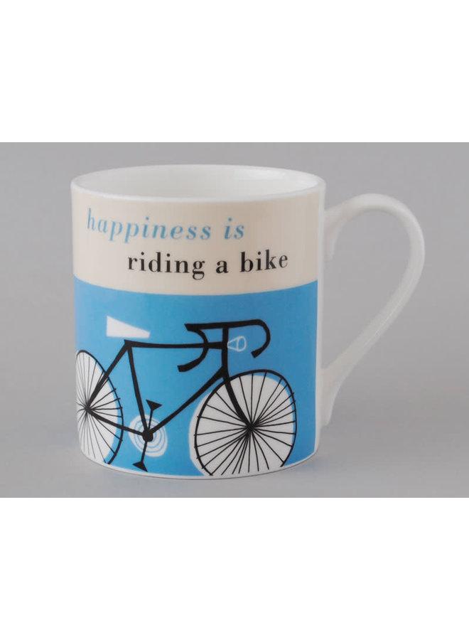 Happiness Large Mug Fahrrad Türkis 115