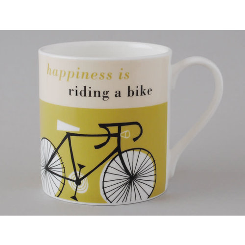 Repeat Repeat Felicidad Taza Grande Bicicleta Oliva 116