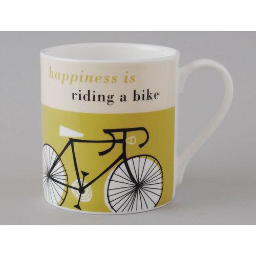 Repeat Repeat Happiness  Large Mug Bike Olive 116