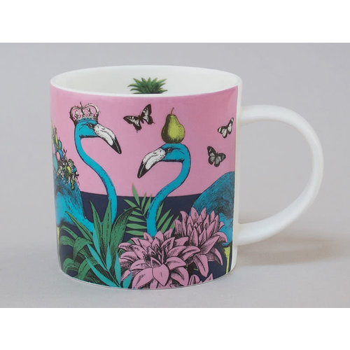 Repeat Repeat Dschungel-Flamingo-China-Becher-Rosa 121