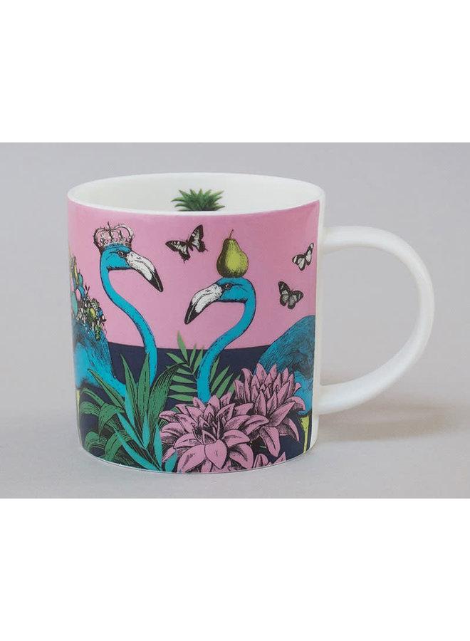Dschungel-Flamingo-China-Becher-Rosa 121