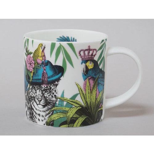 Repeat Repeat Jungle Leopard China Mug Blanco 123