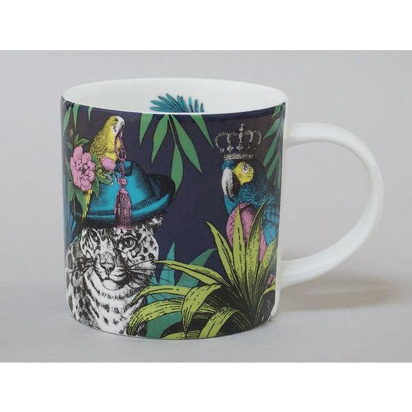Jungle Leopard China Mug Dark 124