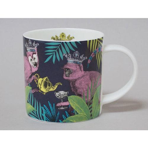 Repeat Repeat Jungle Monkey China Mug Dark 125