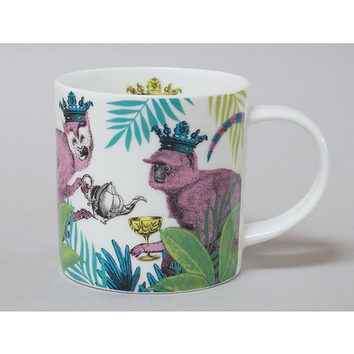 Repeat Repeat Jungle Monkey China Mug Blanco 126