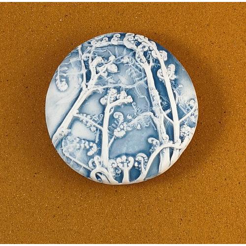 Clare Mahoney Doppelseitiger Prüfstein aus geprägtem Porzellan Large 062