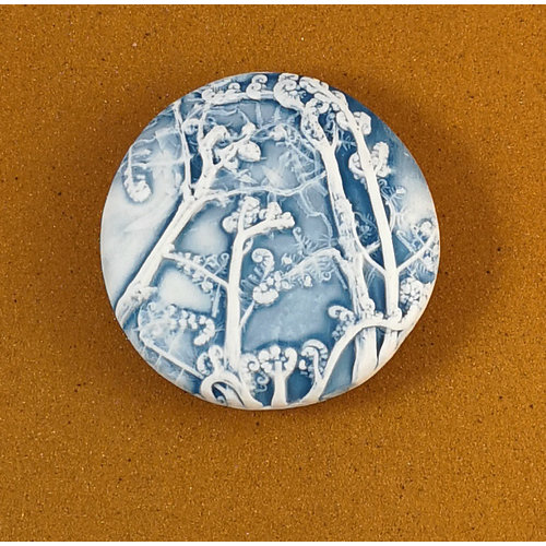 Clare Mahoney Embosed Porcelain double sided touchstone Large 062