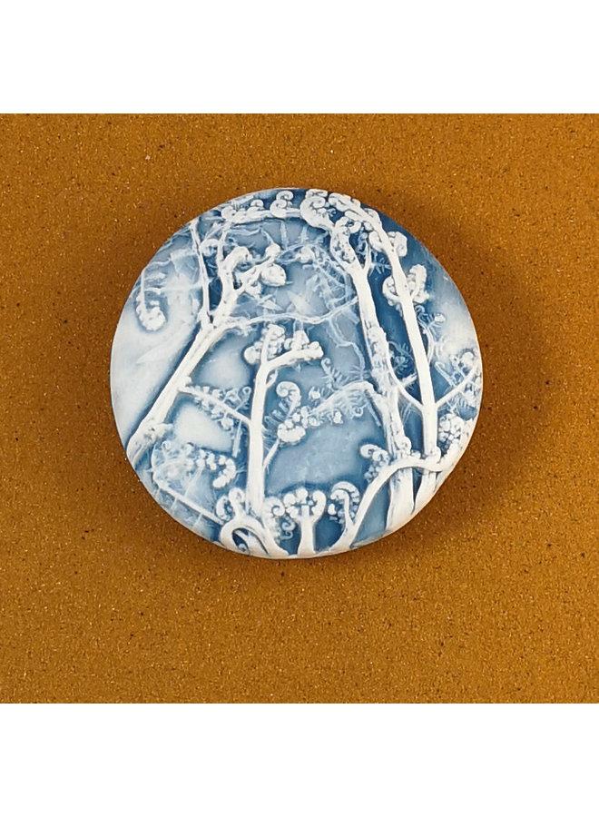 Doppelseitiger Prüfstein aus geprägtem Porzellan Large 062