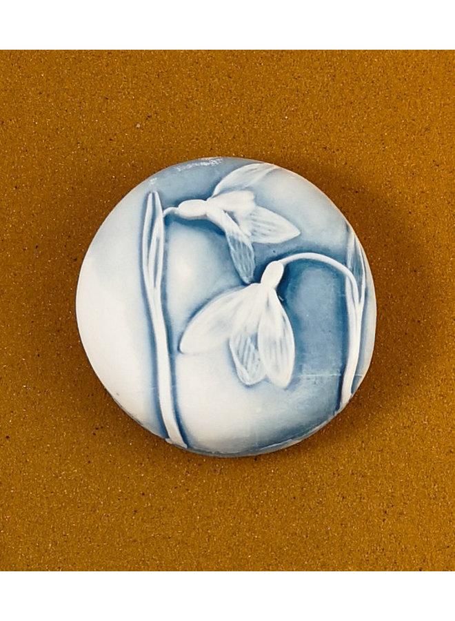 Doppelseitiger Prüfstein aus geprägtem Porzellan Large 063
