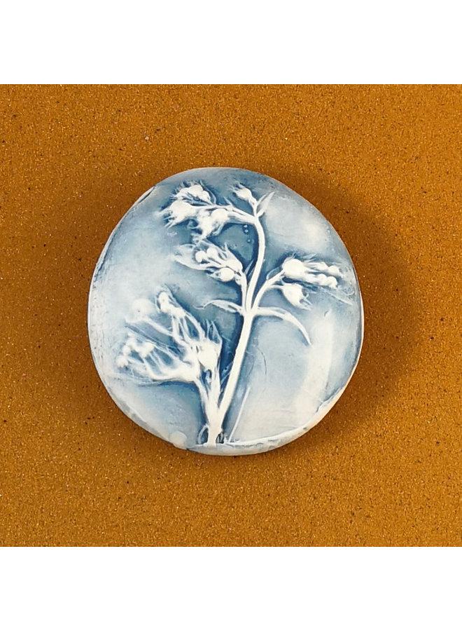 Doppelseitiger Prüfstein aus geprägtem Porzellan Large 065