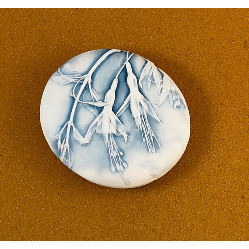 Clare Mahoney Embosed Porcelain double sided touchstone Large 066