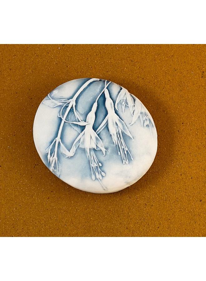 Doppelseitiger Prüfstein aus geprägtem Porzellan Large 066