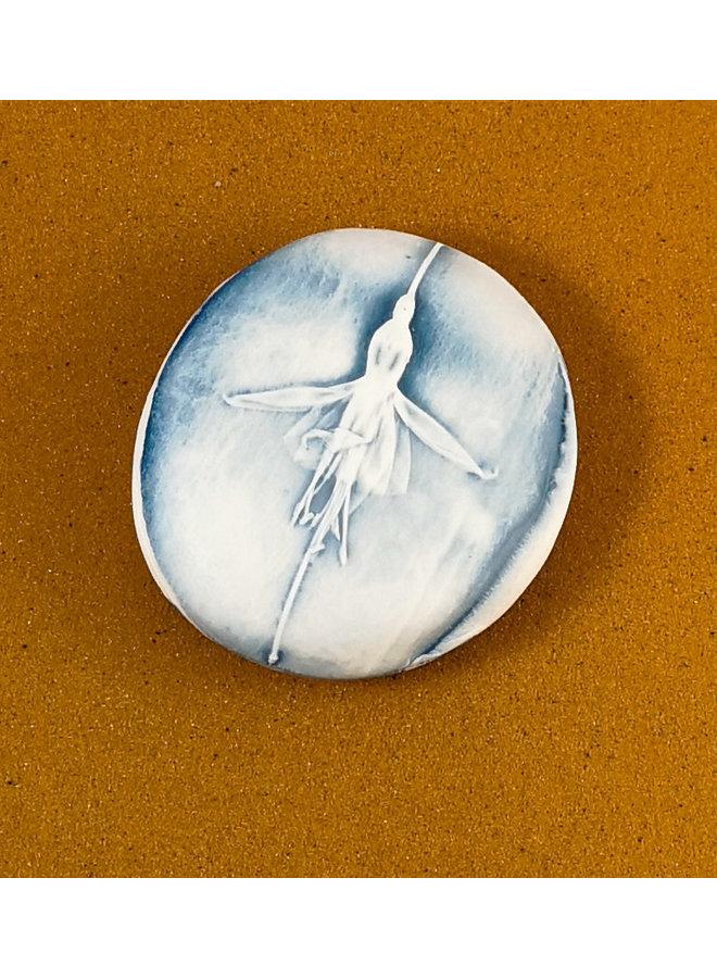 Doppelseitiger Prüfstein aus geprägtem Porzellan Large 067
