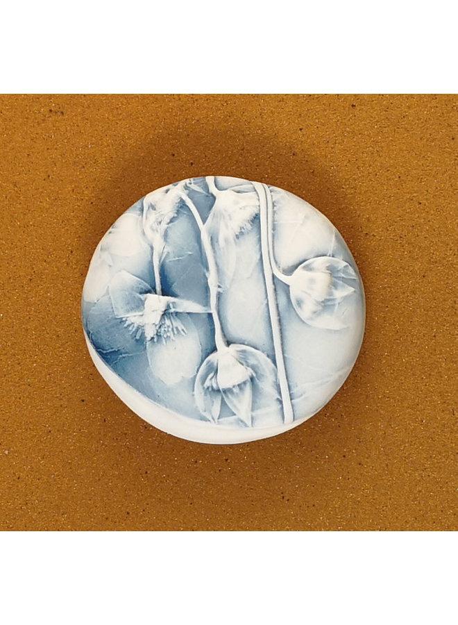 Doppelseitiger Prüfstein aus geprägtem Porzellan Large 069