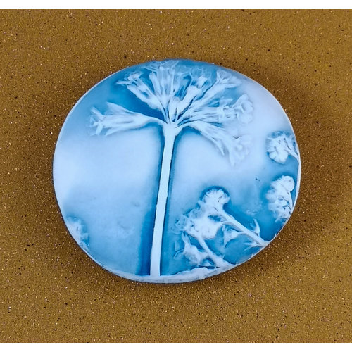 Clare Mahoney Embosed Porcelain double sided touchstone Medium 051