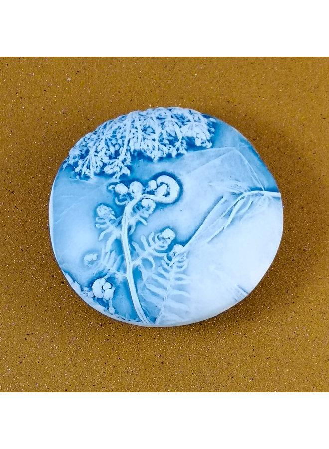 Doppelseitiger Prüfstein Medium 054 aus geprägtem Porzellan