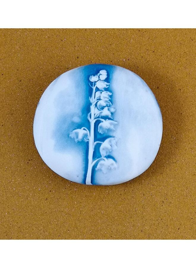 Doppelseitiger Prüfstein aus geprägtem Porzellan Medium 057