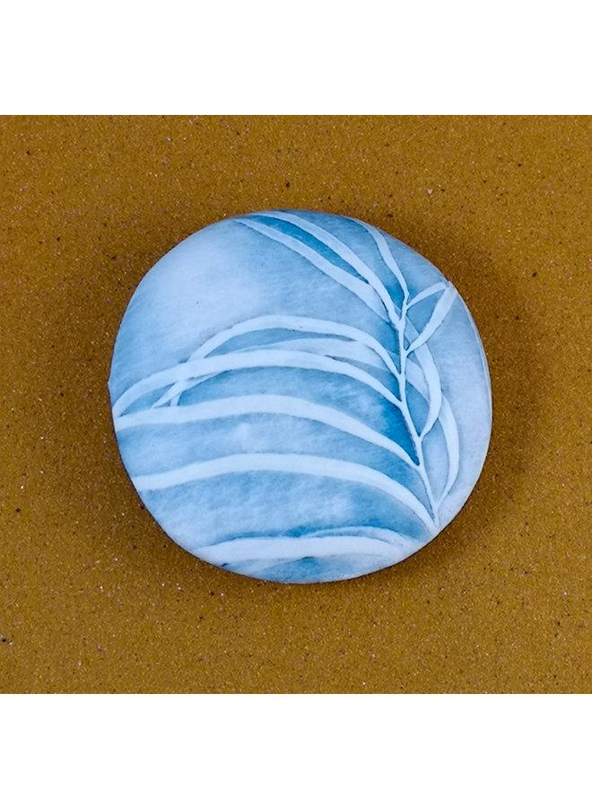 Doppelseitiger Prüfstein Medium 058 aus geprägtem Porzellan