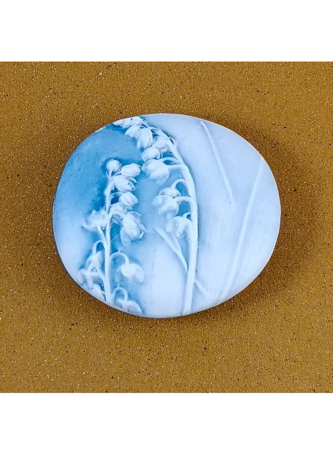 Doppelseitiger Prüfstein Medium 060 aus geprägtem Porzellan