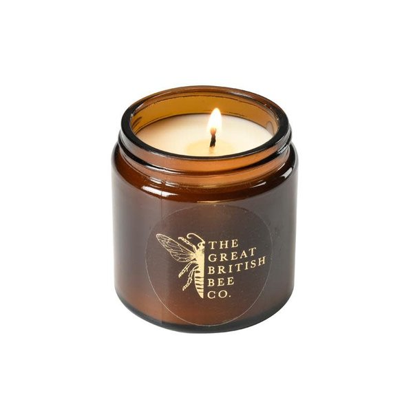 Juego de regalo de madreselva Bálsamo de cera de abejas, lavado y velas