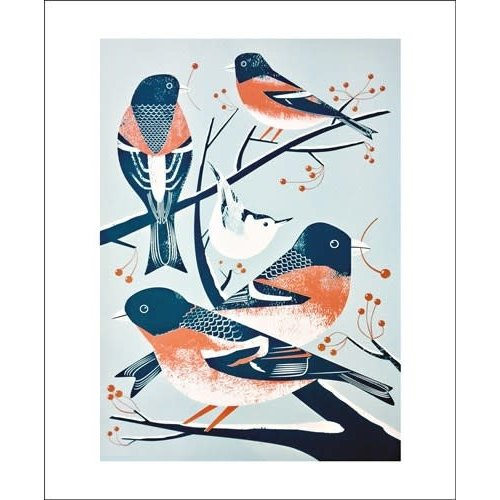 Art Angels Bramblings and a Nuthatch by Chris Andrews