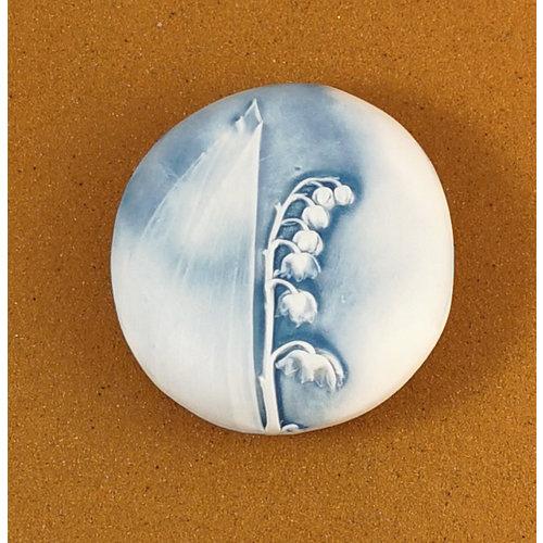 Clare Mahoney Doppelseitiger Prüfstein aus geprägtem Porzellan Large 068