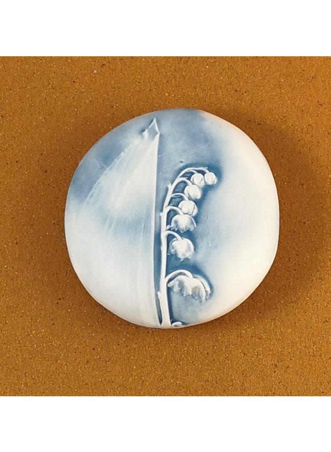Doppelseitiger Prüfstein aus geprägtem Porzellan Large 068
