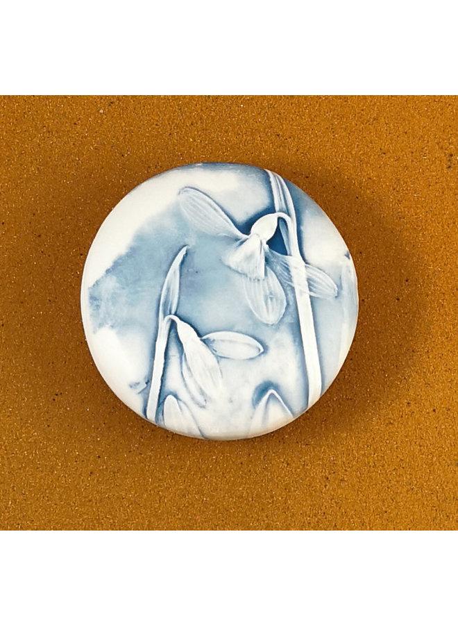 Doppelseitiger Prüfstein aus geprägtem Porzellan Large 070