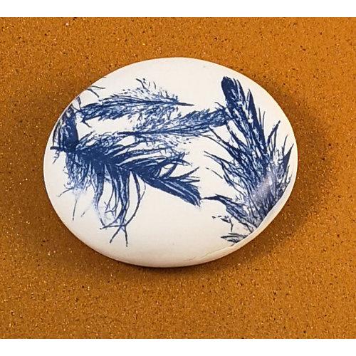 Clare Mahoney Doppelseitiger Prüfstein aus glattem Porzellan Large 072
